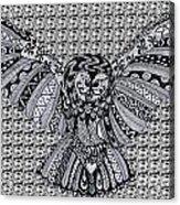 Owl In Flight Pattern Acrylic Print