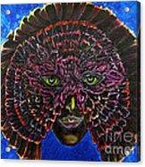 Owl Mask Self Portrait Acrylic Print