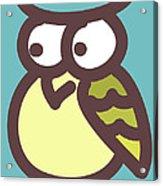 owl Acrylic Print by Nursery Art