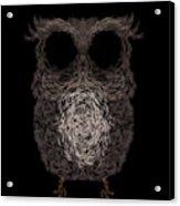 Owl Poster. Vector Illustration Acrylic Print