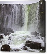 Oxarafoss Waterfall Acrylic Print