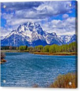 Oxbow Bend In Spring Acrylic Print