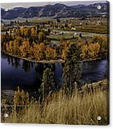 Oxbow Bend In The Wenatchee River Acrylic Print