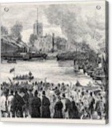 Oxford And Cambridge Universities Boat Race The Start Acrylic Print