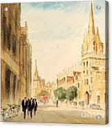 Oxford High Street Acrylic Print