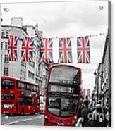 Oxford Street Flags Acrylic Print