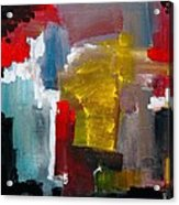 Oxide Blue And Rusty Red Acrylic Print