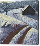 Ozark Winter Barn Acrylic Print