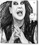 Ozzy Osbourne Art Drawing Sketch Portrait Acrylic Print
