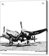 P 38 Lightning Acrylic Print