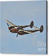 P-38l Lighting - Thoughts Of Midnight 2 Acrylic Print