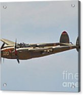 P-38l Lighting - Thoughts Of Midnight Acrylic Print