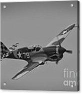P-40 Warhawk Bw Acrylic Print