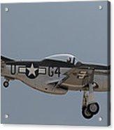 P-51 Landing Configuration Acrylic Print