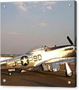 P-51 Mustang Fighter Aircraft Acrylic Print