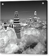 P-51 Mustangs Black And White Version Acrylic Print