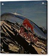 P38 Red Bull Lightning Warbird Acrylic Print