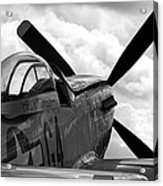 P51 In Clouds Acrylic Print