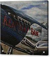 P51 Mustang Kentucky Babe Warbird Acrylic Print