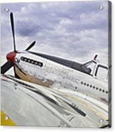 P51 Mustang Acrylic Print by M K  Miller