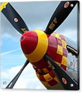 P51 Propeller Acrylic Print by Remy NININ