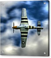 P51d Mustang Ferocious Frankie Acrylic Print by Phil 'motography' Clark