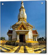 Pa Dong Wai Temple  Acrylic Print by Adrian Evans