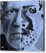 Pablo Cyan Acrylic Print