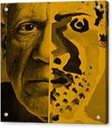 Pablo Orange Acrylic Print