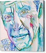Pablo Picasso- Portrait Acrylic Print by Fabrizio Cassetta