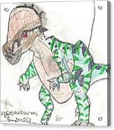 Pachycephalosaurus Acrylic Print
