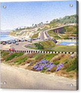 Pacific Coast Hwy Del Mar Acrylic Print by Mary Helmreich