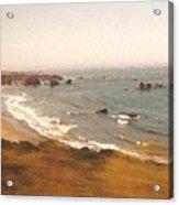 Pacific Coastal Highway bay View Painting Acrylic Print