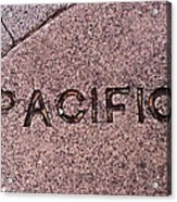 Pacific Concrete Street Sign Acrylic Print