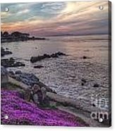 Sunset In Pacific Grove Acrylic Print