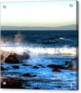 Pacific Grove Surf 19894 Acrylic Print