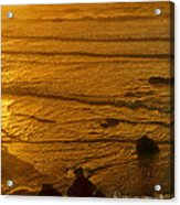 Pacific Ocean Sunset Bandon Beach Oregon Acrylic Print