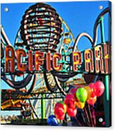 Pacific Park On The Pier Acrylic Print