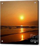 Pacific Sunset Reflection Acrylic Print