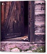 Package By Open Front Door Acrylic Print