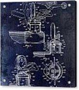 Packard Hood Ornament Blue Acrylic Print