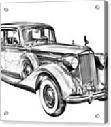 Packard Luxury Antique Car Illustration Acrylic Print