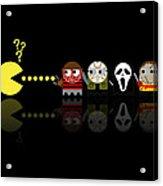 Pacman Horror Movie Heroes Acrylic Print by NicoWriter