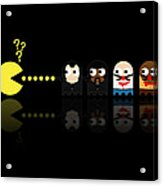 Pacman Pulp Fiction Acrylic Print by NicoWriter