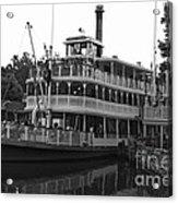 Paddle Boat Black And White Walt Disney World Acrylic Print