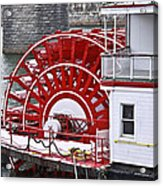 Paddle Wheel Acrylic Print by Tom and Pat Cory