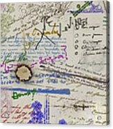 Page From The Madwoman's Notebook Acrylic Print