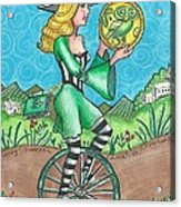 Page Of Coins - Good News Acrylic Print by Joy Saethre