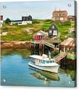 Peggy's Cove Boat Tours Acrylic Print