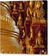 Pagoda And Buddhist Statues Acrylic Print
